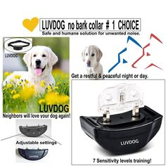 LUVDOG Anti-Bark Dog Collar [ The safe and humane dog training device ] * You can find out more details at the link of the image. (This is an affiliate link and I receive a commission for the sales) #PetDogs