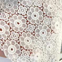 47 wide cotton lace fabric in off white - ONE YARD This listing is for ONE yard. Width about: 47.2 (120 cm) Use for dress supplies, costume fabric, dresses, gift package, bags decoration, party dress, curtains, skirt bottoming, home decor and other projects you could imagine. For more