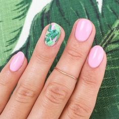 Summer Nail Designs mit Akzentfinger ★ Tropical …, For other models, … Tropical Nail Designs, Beach Nail Designs, Flower Nail Designs, Toe Nail Designs, Art Designs, Gel Nails At Home, Beach Nails, Nagel Gel, Flower Nails