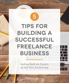 I'm looking back on 5 years of freelancing to give you tips on building or growing a successful freelance business for yourself!