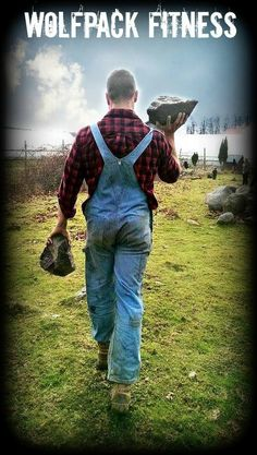 Be strong to be helpful! Clearing a local farm field of rocks