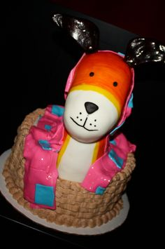 Kipper the Dog cake by Tessa Glasgow on cakecentral.com
