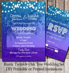 Rustic  Wedding Invitations Rustic Wedding  by TheInspiredEdge
