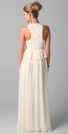 Tibi Long V Neck Dress Style #:TIBII40283