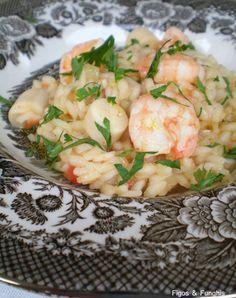 risoto de camarão e palmito