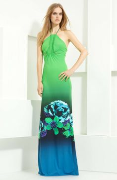 ROBERTO CAVALLI Multicolor Jersey Maxi Dress