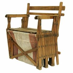 """Here is a great old chair / extendable bed. Perfect when wide family want to sit or sleep over. They stay """"hopefully"""" not for long.."""