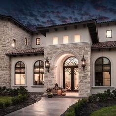 57 Excellent Exterior Home Design Ideas For Your Dream Home - The exterior part of your house is as important as the interior. When people first look at your house, it is the exterior part that they will notice f. Tuscan Style Homes, Spanish Style Homes, Spanish House, Dream Home Design, Modern House Design, Mediterranean Homes Exterior, Mediterranean Design, Tuscan Design, Exterior Design