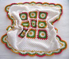 Покрывала из бабушкиного квадрата с цветами. Обсуждение на LiveInternet - Российский Сервис Онлайн-Дневников