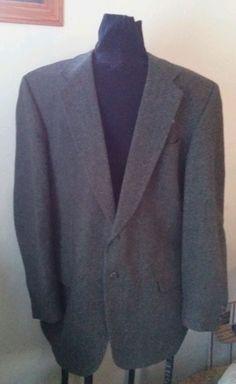 Cricketeer Herringbone Jacket Blazer Suitcoat Mens size 46L  #Cricketeer #TwoButton