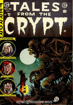 TALES FROM THE CRYPT #46..The last EC horror comic published. Originally the cover & stories were to be published in a new EC horror comic Crypt Of Terror #1 but due to criticism of horror comics and the implosion of comics industry it was cancelled and everything was used in this issue instead so Tales From The Crypt lasted 1 issue longer than the other EC horror comics.