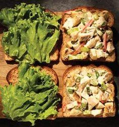 chicken salad recipe (non-paleo due to hummus)