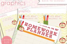 Awesome back to school freebie that includes: A homework planner, Positive Lunch Notes, & Book Inserts. School 2013, School Fun, Back To School, School Stuff, School Ideas, School Projects, Diy Projects, Homework Planner Printable, School Organization