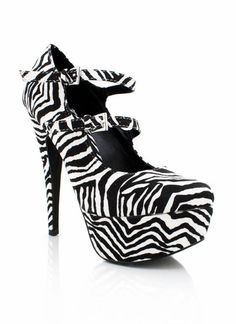 Charlotte Russe Zebra High Heels Size 8 | Zebra Print High Heels ...