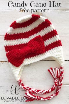 fits most knit I heart Santa stocking cap holiday toque Christmas hat cute children hat Christmas beanie candy cane cap