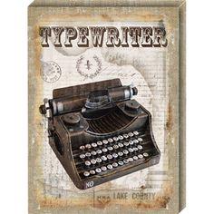 ΠΙΝΑΚΑΣ «TYPEWRITER» 40,6Χ55,8Χ2,5ΕΚ ΚΩΔΙΚΟΣ:42052 Typewriter, Retro, Collection, Frames, Retro Illustration