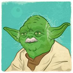 Yoda with moustache. Looks even older now.