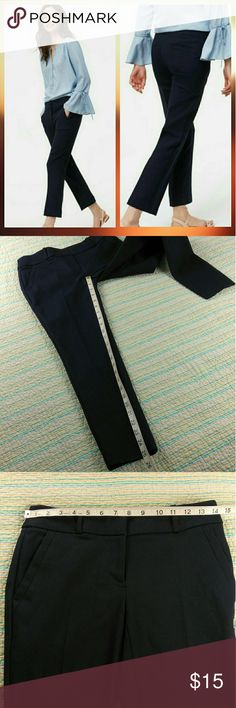 SOLD Ann Taylor LOFT Navy Blue Marisa Skinny Ann Taylor LOFT Navy Blue Marisa Straight Skinny Pants Trousers Career Size 00P LOFT Pants Ankle & Cropped