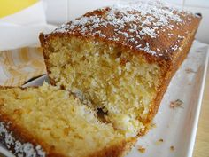 Light, airy, and reminiscent of a pina colada, this coconut and pineapple cake is perfect for summer parties and other gatherings. This cake has a fluffy texture that will only excite your tastebuds. Coconut Pineapple Cake, Coconut Loaf Cake, Pineapple Slices, Food Cakes, Cake Recipes, Dessert Recipes, Desserts, Bread Recipes, Cooking Recipes
