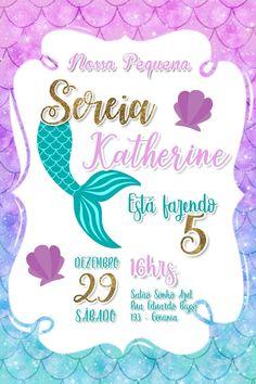 Mermaid Theme Birthday, Little Mermaid Birthday, Little Mermaid Parties, Girl Birthday, Little Mermaid Cakes, The Little Mermaid, Mermaid Invitations, Birthday Invitations, Barbie
