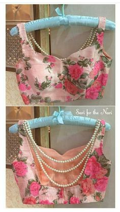 36 Printed Blouse Designs for sarees with trendy neck patterns Choli Designs, Saree Blouse Neck Designs, Fancy Blouse Designs, Saree Blouse Patterns, Designer Blouse Patterns, Blouse Designs Wedding, Designer Saree Blouses, Indian Blouse Designs, Traditional Blouse Designs