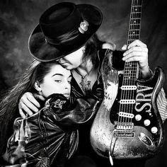Stevie Ray Vaughn and Janna