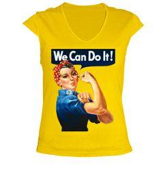 Camiseta we can do it retro
