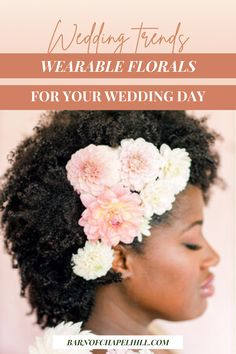 The Barn of Chapel Hill's latest blog post has 5 of the best ways to include wearable wedding florals into your wedding day, everything from wearable bridesmaid's bouquets to florals for your pets. Head to the blog and view the wedding gallery to be inspired to incorporate beautiful wearable flowers into your wedding day. Wedding Hair Flowers, Flowers In Hair, Floral Wedding, Wedding Bouquets, Wedding Trends, Wedding Tips, Flora Farms, Wedding Etiquette, Special Flowers