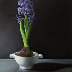 Hyacinth 10x10, painting by artist M Collier