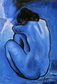 "marimopet: "" Picasso - Blue Nude, 1902 """