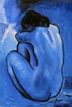 "marimopet: "" Picasso - Blue Nude, 1902 """