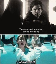 Vampires can't procreate. But we love to try.