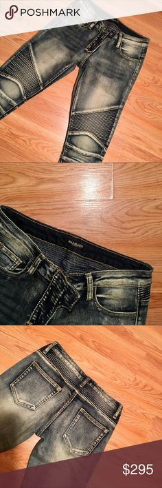 Women Consigned  Balmain Jeans - Size 28 but fits like size 24 due to washing. - Wash on delicate and air dry or cleaners service for better care. - Slim fit. - Pricing due to shrinkage Balmain Pants Skinny
