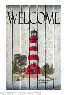 COASTAL-WALL-ART-ASSATEAGUE-ISLAND-LIGHTHOUSE-NAUTICAL-WOODEN-SLAT-SIGN