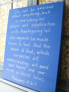 Scripture Art on Canvas // Hand Lettered Bible by BeanstalkLoft, $72.00