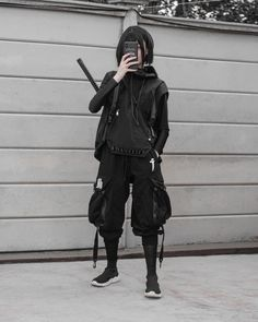 Bad Girl Outfits, Edgy Outfits, Grunge Outfits, Cool Outfits, Fashion Outfits, Cyberpunk Clothes, Cyberpunk Fashion, Aesthetic Grunge Outfit, Aesthetic Clothes