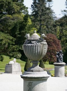 Urn in Powerscourt Gardens, County Wicklow in Ireland www.powerscourt.ie
