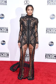 See the best dressed on the red carpet at the 2015 AMAs: Ciara