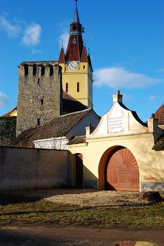 Saxon village with fortified church, Transylvania, Romania. romaniasfriends.com