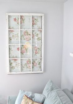 Sweet vintage window idea - neat idea for kids old baby blankets, or pieces of fabric for window quilt pattern.