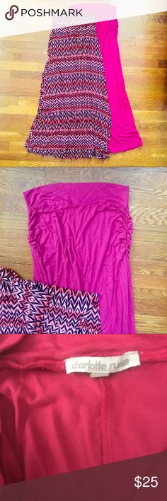 ✨TWO Flowy Cotton Maxi Skirts Two maxi skirts I need to let go of from my much too large collection of maxi skirts. Super soft and cute. - perfect to pair with a simple crop top sandals and a jean jacket. Like new condition. Size M and L, but fit true to M Skirts Maxi