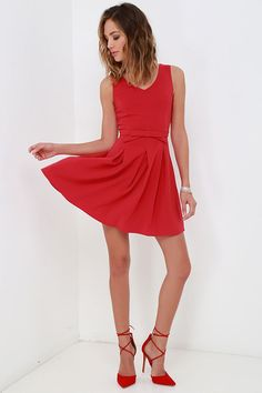 Someone to Love Red Dress at Lulus.com!