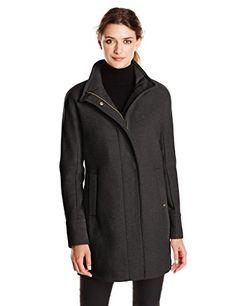 Ellen Tracy Outerwear Women's Wool-Blend Coat with Funnel Neck - http://darrenblogs.com/2015/11/ellen-tracy-outerwear-womens-wool-blend-coat-with-funnel-neck/