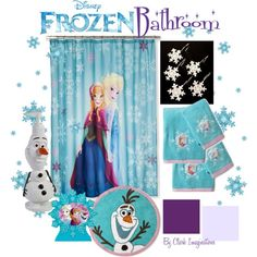 """Frozen Bathroom"" by fallinlove82603 on Polyvore"