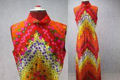 Kitsch Bright Bold Floral Print Vintage by PatternVintageLondon