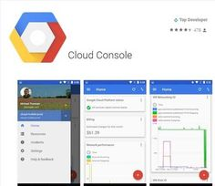 Manage cloud hosted applications with your mobile device