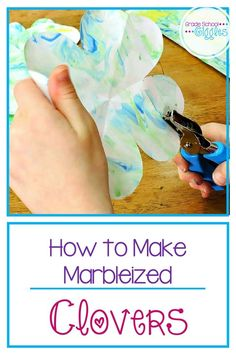 Making marbleized four leaf clovers is a quick and easy art project for preschool, kindergarten, or elementary school students. This DIY craft is a perfect St. Patrick's Day activity to pair with your classroom leprechaun activities as you celebrate the famous Irish holiday.