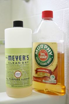 Cleaners...Mrs Meyer's Clean Day(Lemon Verbena) Murphy Oil Soap
