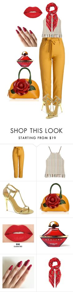 """""""Untitled #129"""" by anaflores7822 ❤ liked on Polyvore featuring Miguelina, Chinese Laundry, Smashbox, Guerlain and Alexander McQueen"""