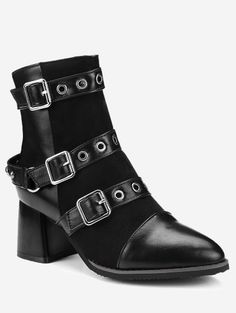SHARE & Get it FREE | Ankle Multi Buckle Straps Chunky Boots - Black 41For Fashion Lovers only:80,000+ Items • New Arrivals Daily Join Zaful: Get YOUR $50 NOW!